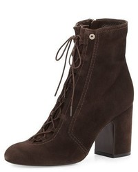 Laurence Dacade Milly Lace Up Suede Bootie Gray