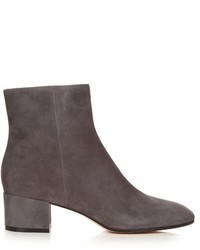 Gianvito Rossi Rolling Block Heel Suede Ankle Boots