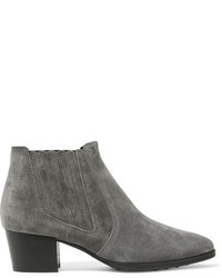 Tod's Suede Ankle Boots Anthracite