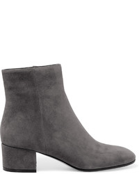 Gianvito Rossi Suede Ankle Boots Dark Gray