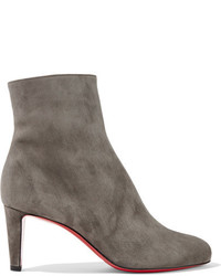 Christian Louboutin Top 70 Suede Ankle Boots Anthracite