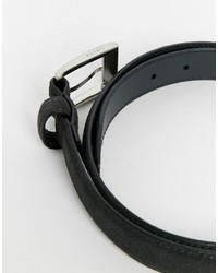 Esprit Skinny Belt In Stitch Suede