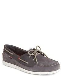 Charcoal Suede Boat Shoes