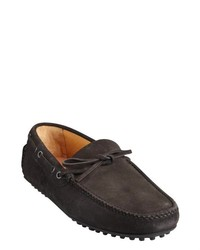 Dark charcoal suede boat stitched driving shoes medium 265440