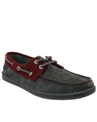 GBX Dark Gray Suede Boat Shoes