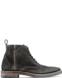 Maison Martin Margiela Grey Leather Canvas Ankle Boots