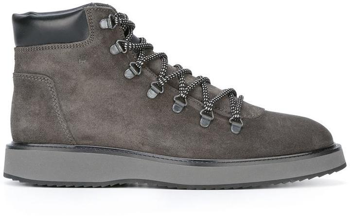 Hogan Route X Hiking Boots, $381   farfetch.com   Lookastic