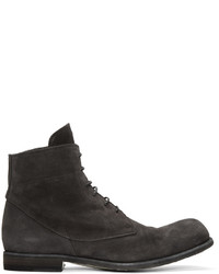 Charcoal Suede Casual Boots