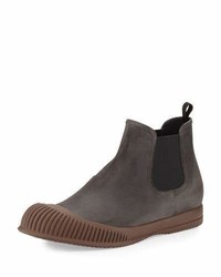 Mud guard suede chelsea boot gray medium 1019198