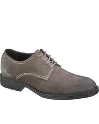 Hush Puppies Plane Oxford Plain Toe Charcoal Suede Lace Up Shoes