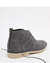 ASOS DESIGN Desert Boots In Grey Cord