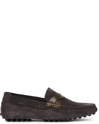 Tom Ford Samuel Leather Trimmed Suede Driving Shoes