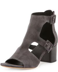 Rag & Bone Matteo Suede Block Heel Sandal Asphalt