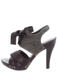 Stella McCartney Vegan Lace Up Sandals