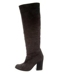 Suede knee high boots medium 5388336