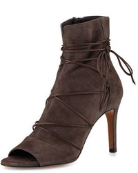 Adisa lace up open toe ankle boot dark smoke medium 647288