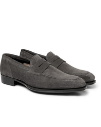 Charcoal Suede Loafers