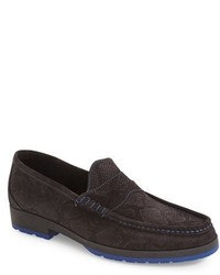 Lazzaro embossed penny loafer medium 1247397