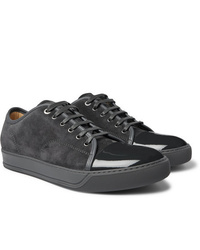 Charcoal Suede Low Top Sneakers