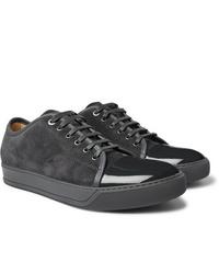 Charcoal Suede Low Top Sneakers