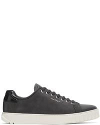 Salvatore Ferragamo Grey Cube Sneakers