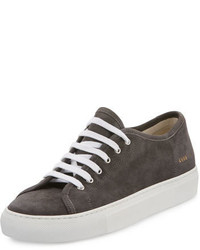 Common Projects Tournat Suede Low Top Sneaker Dark Gray