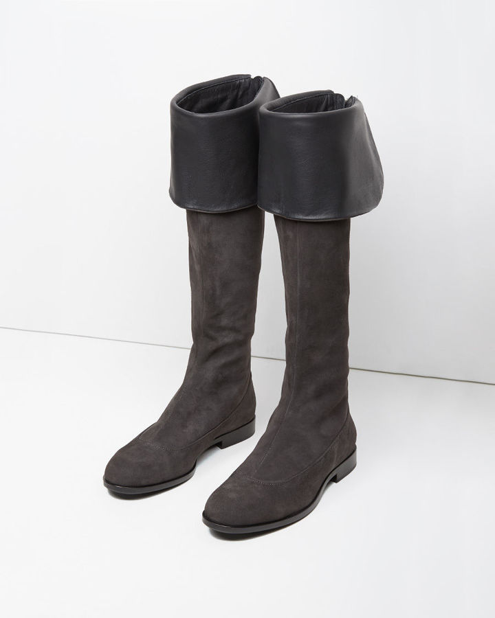 Jil Sander Suede Knee-High Boots clearance fast delivery outlet authentic outlet 100% authentic rBPYC