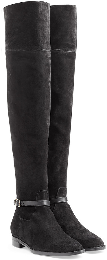 0e532a870ff ... Burberry Shoes Accessories Suede Over The Knee Boots ...