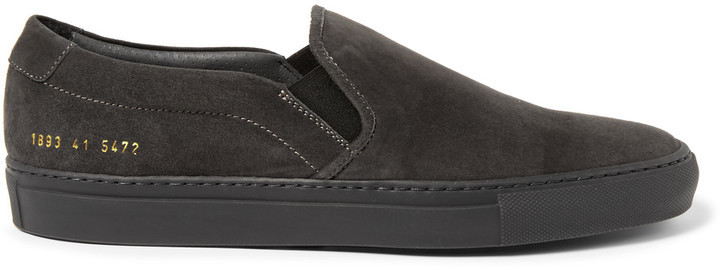 COMMON PROJECTS Suede slip on sneakers cX3mmIb5f7