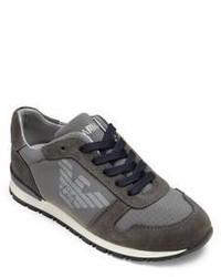 Armani Junior Kids Logo Low Top Sneakers