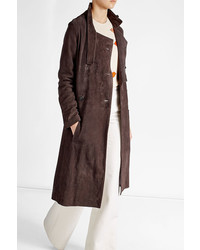 Golden Goose Deluxe Brand Suede Trench Coat