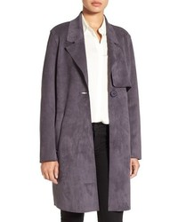 Sueded trench coat medium 801783