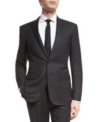 Anthony trim fit two piece wool suit charcoal medium 446184