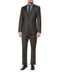 Hugo Boss Boss Slim Fit Broken Pindot Two Piece Suit Black