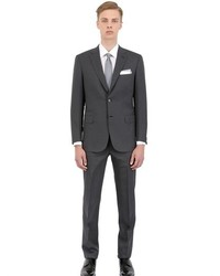 Brioni pinstripe stretch wool slim fit suit medium 375811