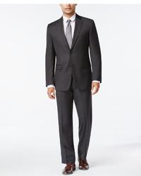Izod Charcoal Birdseye Classic Fit Suit