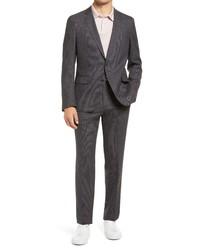 BOSS Herrel Grace Classic Fit Grey Stretch Suit