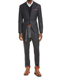 Brunello Cucinelli Micro Houndstooth Wool Suit