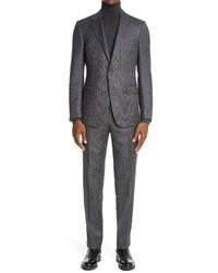 Ermenegildo Zegna Milano Achillfarm Textured Suit