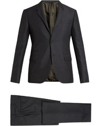 Valentino Notch Lapel Mohair And Wool Blend Suit