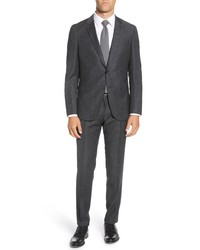 BOSS Novan Fit Houndstooth Wool Suit