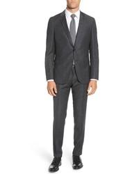 BOSS Novan Fit Houndstooth Wool Suit