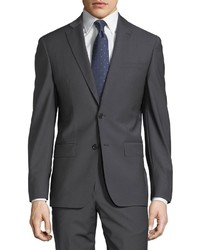 John Varvatos Plain Two Button Wool Blend Suit