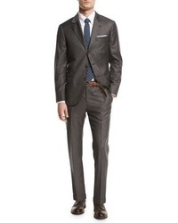 Brunello Cucinelli Solid 3 Button Two Piece Suit