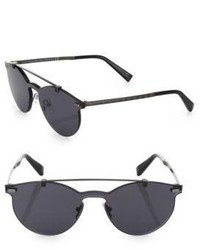 Ermenegildo Zegna 52mm Double Bridge Rimless Sunglasses