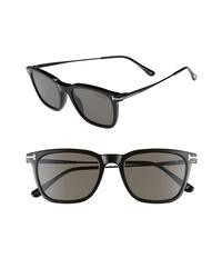 Tom Ford 53mm Polarized Rectangle Sunglasses