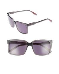 ED Ellen Degeneres 56mm Gradient Square Sunglasses