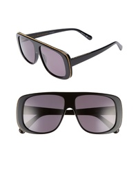 Stella McCartney 57mm Flat Top Sunglasses