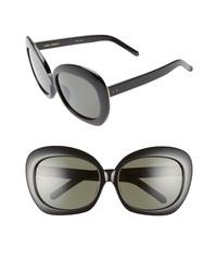 Linda Farrow 62mm Oversize Round Sunglasses