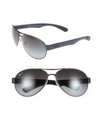 Ray-Ban 66mm Aviator Sunglasses